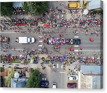 4th July Canvas Print - Parade From Above by Dusty Demerson