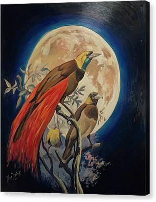 Paradise Birds Canvas Print by Nop Briex
