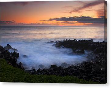 Paradise Cove Sunset Canvas Print by Mike  Dawson