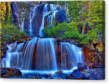 Paradise Falls Canvas Print by Scott Mahon