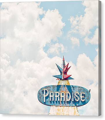 Vintage Sign Canvas Print - Paradise by Humboldt Street