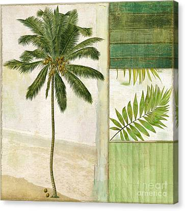 Paradise II Palm Tree Canvas Print by Mindy Sommers