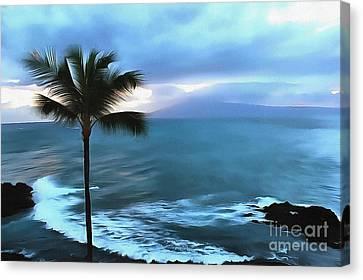 Tropical Beach Canvas Print - Paradise Is Calling by Krissy Katsimbras