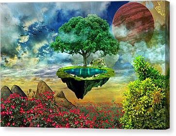 Paradise Island Canvas Print by Ally White
