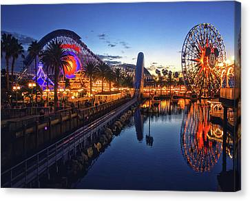 Paradise Pier Sunset Canvas Print