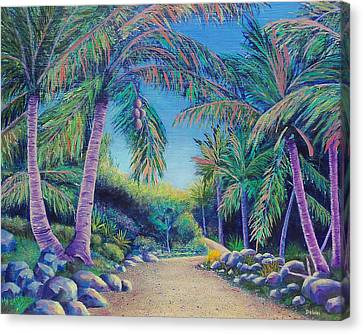Canvas Print featuring the painting Paradise by Susan DeLain