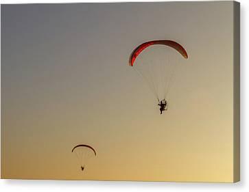 Paragliders  Canvas Print by Stelios Kleanthous