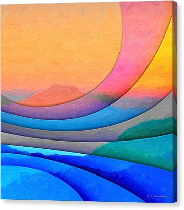 Parallel Dimensions - The Sacred Mountain Canvas Print by Serge Averbukh