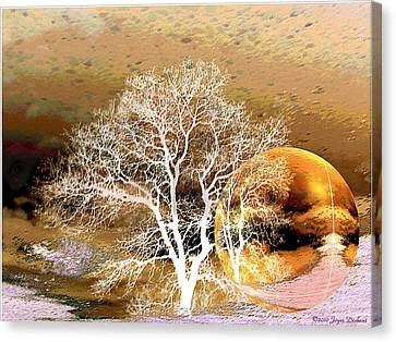 Canvas Print featuring the photograph Parallel Worlds by Joyce Dickens