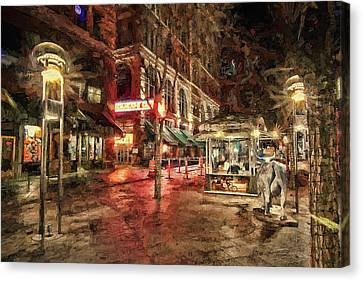 Store Fronts Canvas Print - Paramount Cafe by Todd Yoder