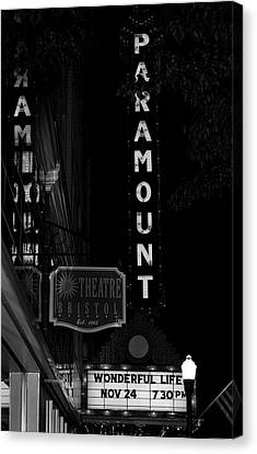 Paramount Marquee Bristol Tennessee Canvas Print