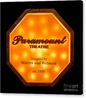 Paramount Theater Sign Canvas Print