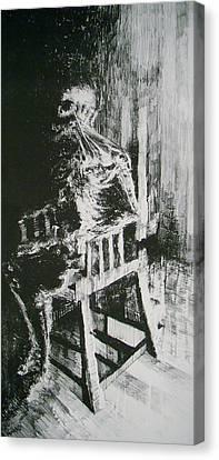 Paranoiac Canvas Print by Nathan Bishop