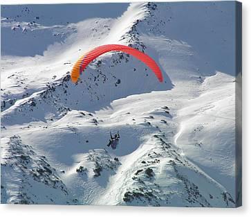 Parasailing In Davos Canvas Print