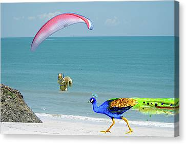 Parasailing Squirrel Canvas Print