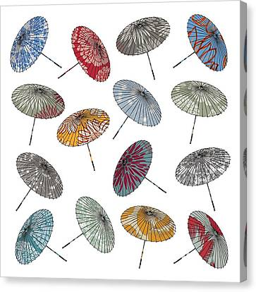Parasols Canvas Print by Sarah Hough