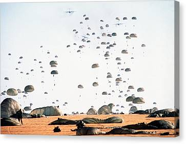 Paratroopers From The 82nd Airborne Canvas Print