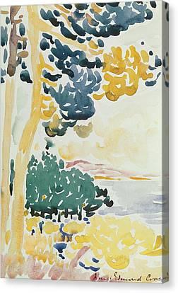 Pardigon Canvas Print by Henri-Edmond Cross