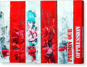 Pardon Our Oppression Canvas Print by Munir Alawi
