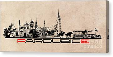 Pardubice Skyline City Canvas Print by Justyna JBJart