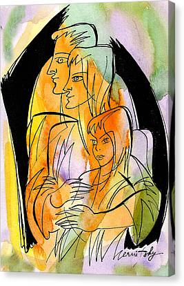 Parenting And Caring Canvas Print by Leon Zernitsky