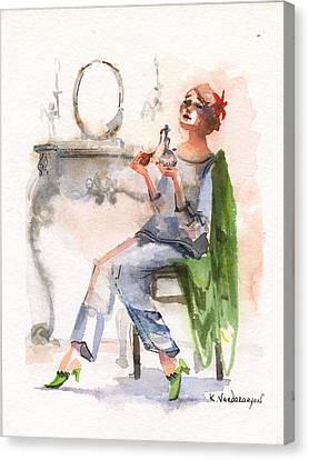 Parfum Canvas Print by Kristina Vardazaryan