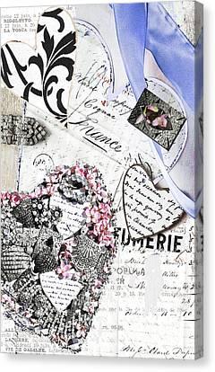Parfumerie - Paris Love Letters Canvas Print by WALL ART and HOME DECOR
