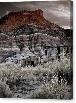 Old Cabins Canvas Print - Paria Townsite by Leland D Howard