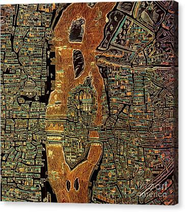 Antique Map Canvas Print - Paris 1550 Old Map by Pablo Franchi