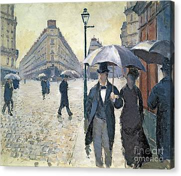 Impressionism Canvas Print - Paris A Rainy Day by Gustave Caillebotte