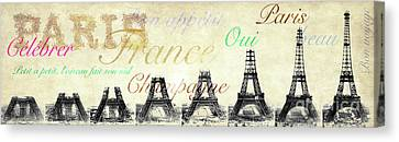 The Eiffel Tower Canvas Print - Paris And The Eiffel Tower by Jon Neidert