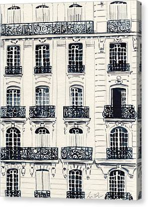 Paris Apartments Haussman Architecture Canvas Print by Laura Row