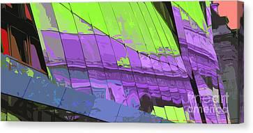 Europe Digital Art Canvas Print - Paris Arc De Triomphe by Yuriy  Shevchuk
