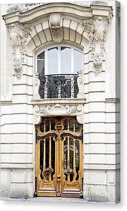 Paris Art Nouveau Door Canvas Print