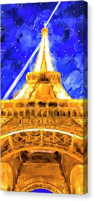 Canvas Print featuring the mixed media Paris Ascending by Mark Tisdale