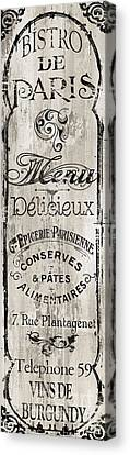 Paris Bistro II Canvas Print by Mindy Sommers