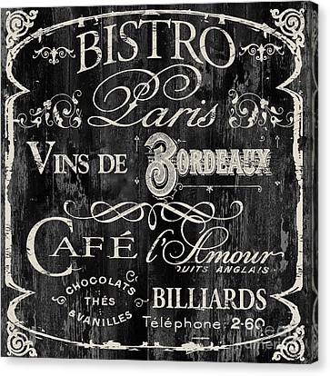 Paris Bistro  Canvas Print by Mindy Sommers