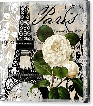Paris Blanc I Canvas Print by Mindy Sommers