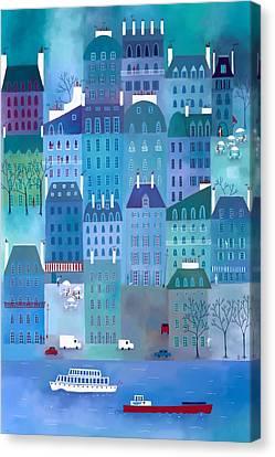 Paris Blues Canvas Print by Nic Squirrell