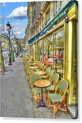 Paris Cafe Canvas Print by Mark Currier