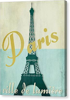 Paris City Of Light Canvas Print by Mindy Sommers