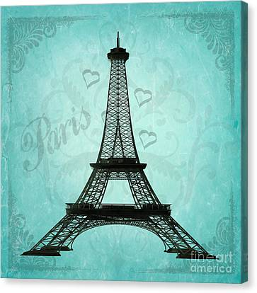 Paris Collage Canvas Print by Jim and Emily Bush