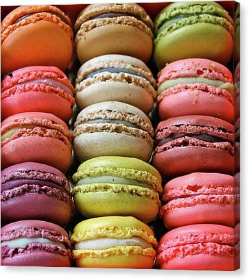 Large Group Of Objects Canvas Print - Paris Colorful Macaroons by Abbietabbie