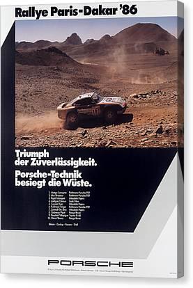 Paris Dakar Rally Porsche 1986 Canvas Print