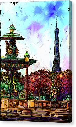 Paris Canvas Print by DC Langer