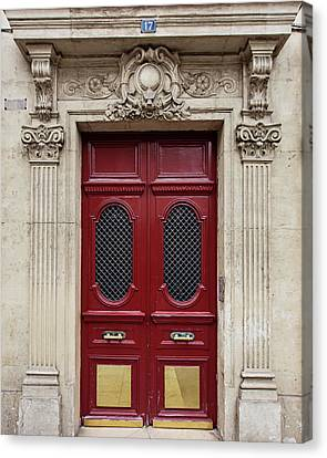 Canvas Print featuring the photograph Paris Doors No. 17 - Paris, France by Melanie Alexandra Price