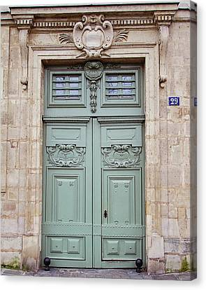 Canvas Print featuring the photograph Paris Doors No. 29 - Paris, France by Melanie Alexandra Price