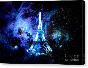Space Canvas Print - Paris Dreams by Johari Smith