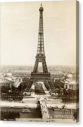 Paris: Eiffel Tower, 1900 Canvas Print by Granger
