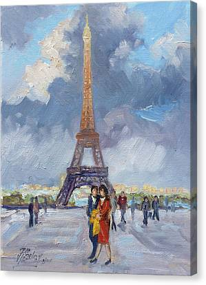 Canvas Print - Paris Eiffel Tower by Irek Szelag